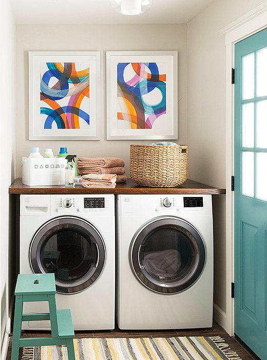 Small space?  Go big on color