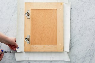 Step 4: Cut A Sheet Of Vinyl 3 Inches Larger Than The Cabinet Door On
