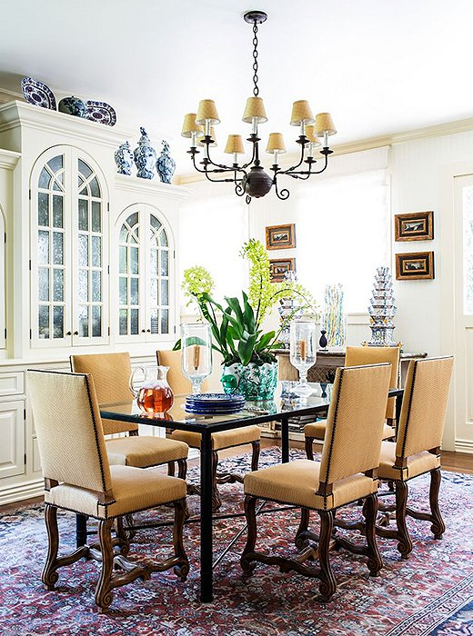 The Louis XIV chair's thronelike stature lends drama to the dining room. Try pairing with a clean-lined table to balance out the chairs' formality and heavy shape. Photo by Nicole LaMotte.
