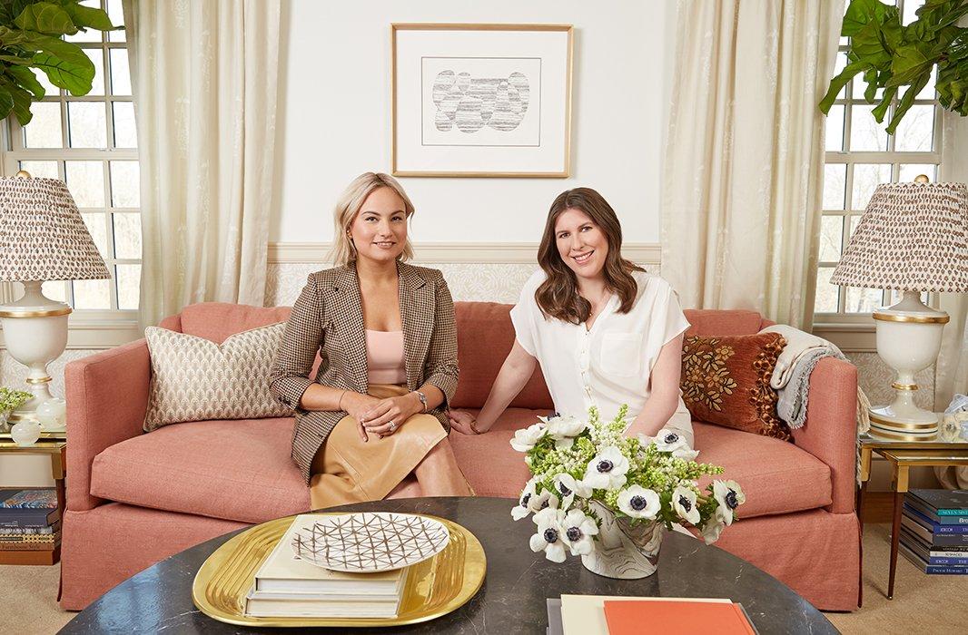 Designer Nicole Fisher(left) and One Kings Lane president Debbie Propst.