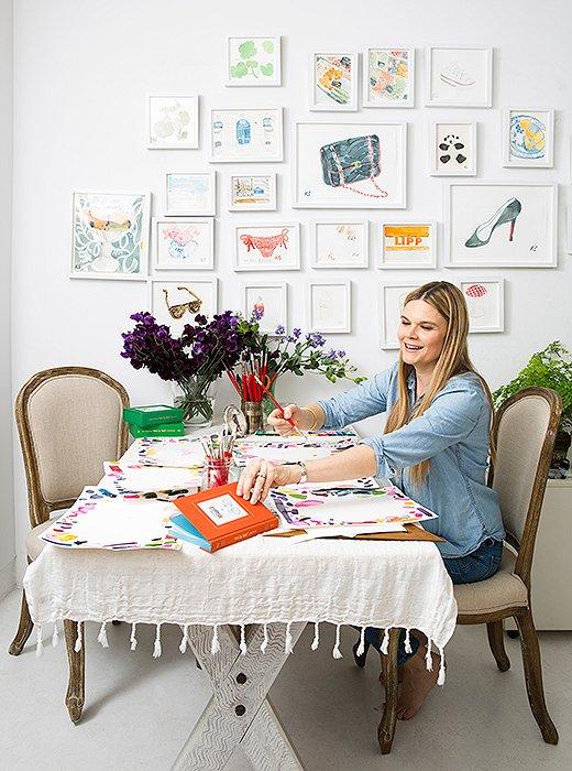 Kate Schelter in her Manhattan studio. Photo by Leslie Unruh.