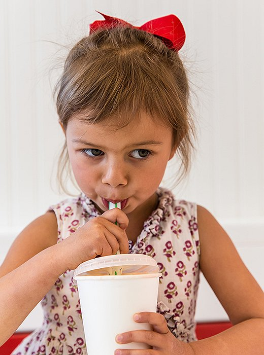 Vanilla shakes are a favorite of (and sometimes a weekday treat for) the little ones.