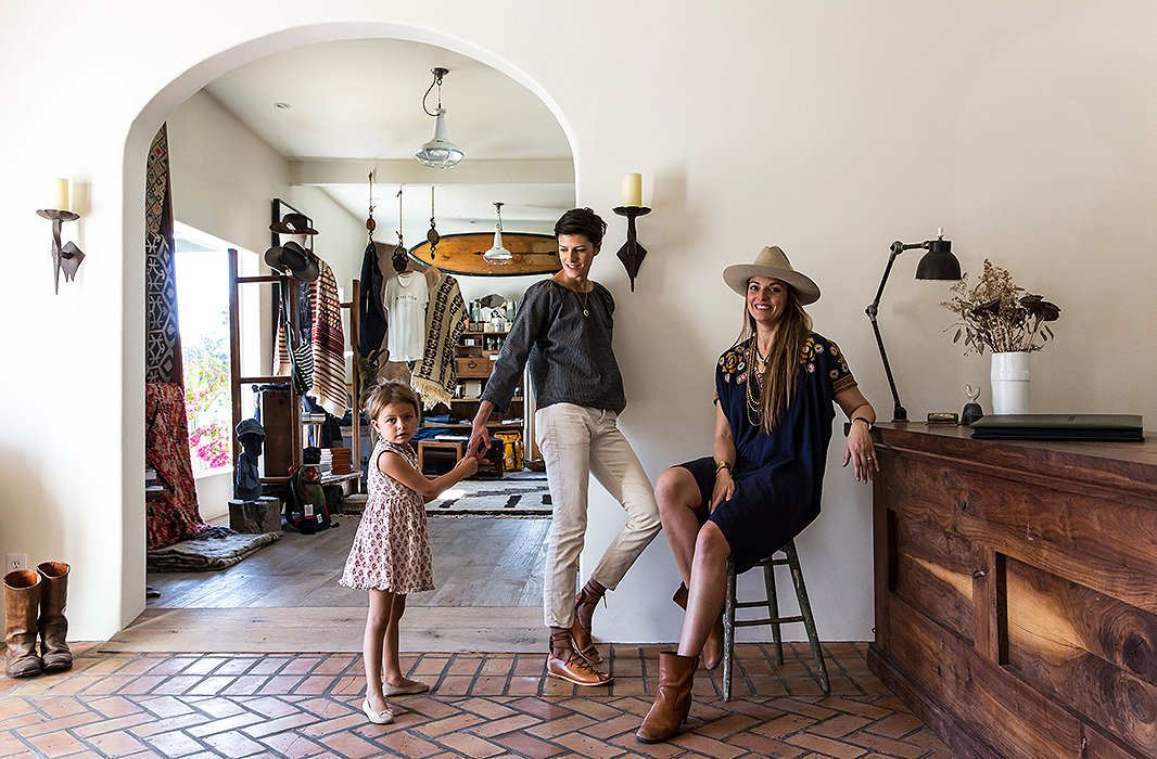 Lawren at In the Field with her daughter and the store's owner, Bianca Roe.