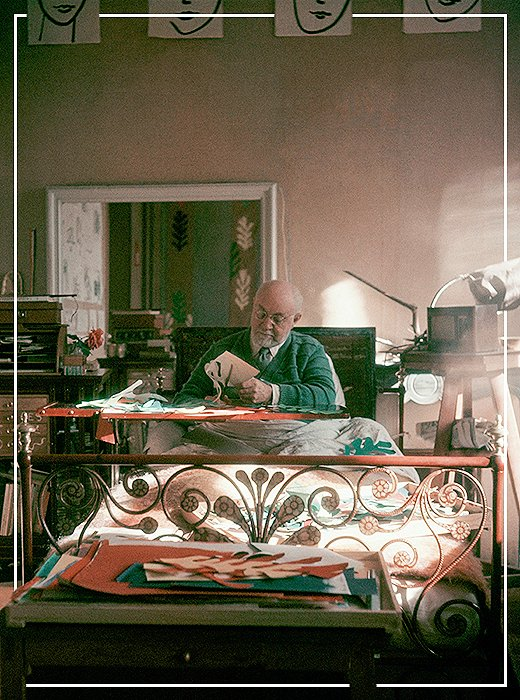Matisse at work on his plans for Chapelle du Rosaire de Vence, which Kate credits as one of her greatest points of inspiration.
