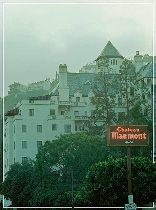 The Chateau Marmont: Kate's hotel of choice and where James Dean jumped through a roof during his audition for Rebel Without a Cause.