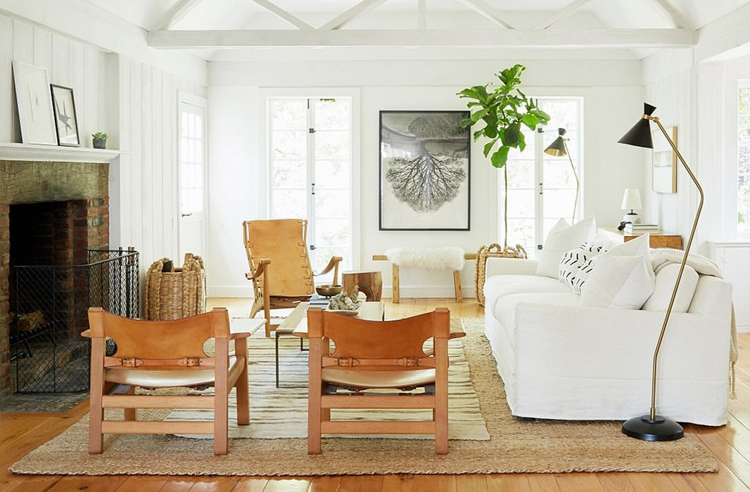 The Los Angeles Living Room Of Fashion Designer Jenni Kayne Features A Pair Chairs In