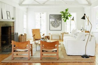 The Los Angeles Living Room Of Fashion Designer Jenni Kayne Features A Pair  Of Chairs In