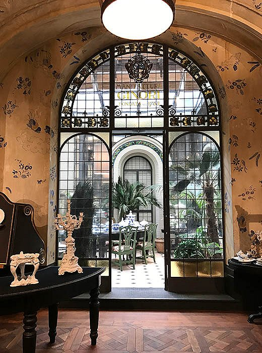 """I never miss a chance to browse the Richard Ginori shop,"" says Indré, who took in this grand scene at the centuries-old porcelain maker's flagship in Florence."
