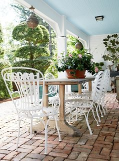 A Perfectly Shaded Spot For Bunnyu0027s Summer Lunches, The Loggia Is Canopied  By A Painted