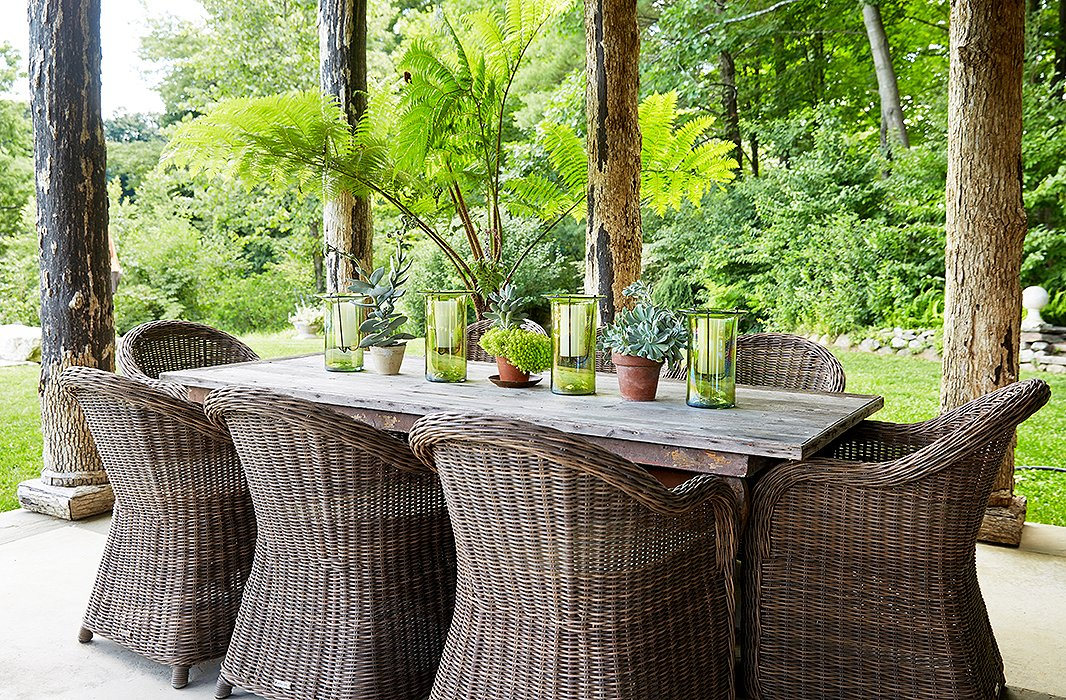 Gorgeous ideas for gardens from bunny williams for French farmhouse dining chairs