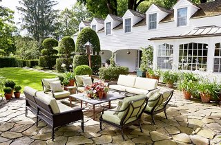 A Stone Terrace Just Off The Main House Was Transformed Into An Outdoor  Room With Comfy