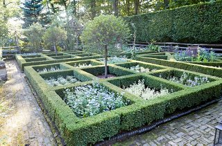 Bunny Planted Boxwoods In Ornamental Squares And Diamonds For Her Parterre.  She Was Inspired By