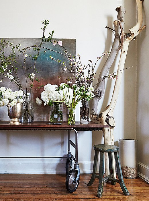 """""""I love everything she produces out of her garden and kitchen; anything she chops and arranges in a vase becomes art,"""" says Darryl of Sidra's always-fresh creations."""
