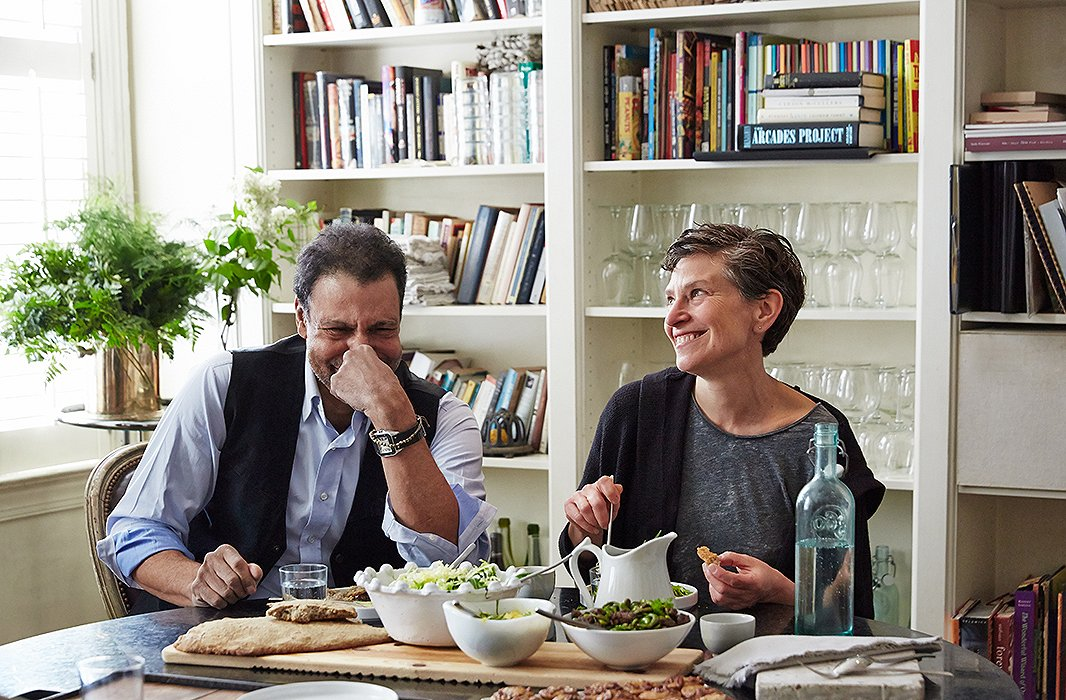 """Darryl often stops in at the studio of florist, chef, and gardener Sidra Forman. """"She is all things tasteful, and we share a very similar sardonic wit,"""" he says."""