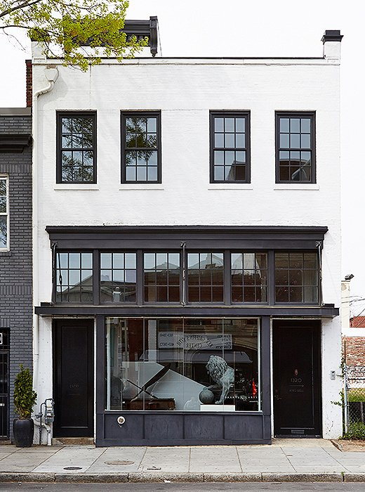 "Located in Washington DC's Shaw neighborhood, Darryl's boutique captures ""a rare example of pre-Civil War architecture."""