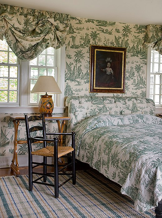 Historic charm abounds in the cozy Guest Room at Twin Farms.