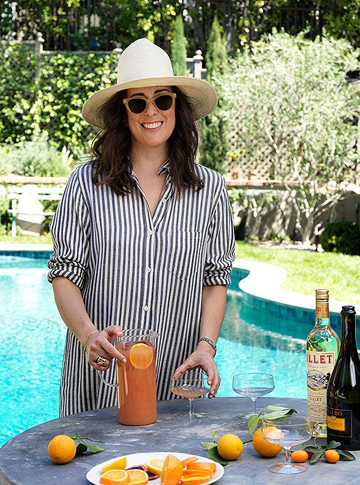 Clare recommends a chilled rosé or a refreshing punch for poolside entertaining.