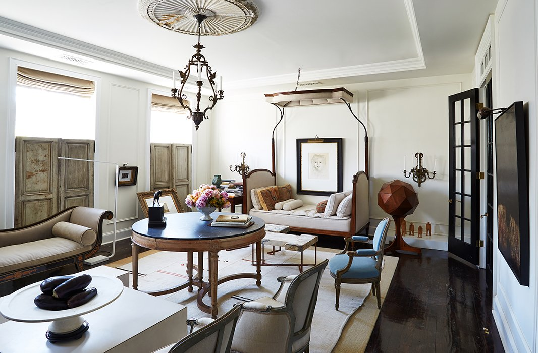 Above, the living room in interior designer Darryl Carter's Washington, D.C. home. Photo by Frank Tribble