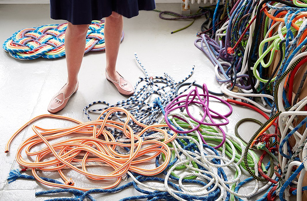 Sophie's marine rope comes in all manner of colors and patterns.