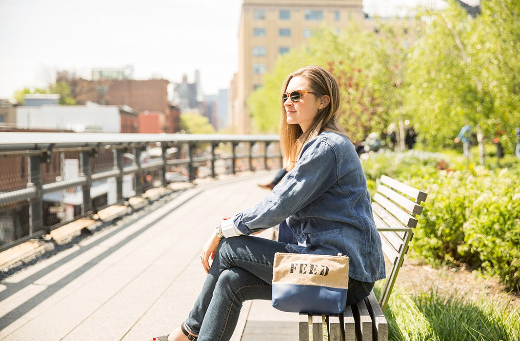 """""""The FEED HQ isaround the cornerfrom the High Line, sowe'vemade a tradition of having team breakfasts up herefor special occasions like birthdays,"""" says Lauren. """"We love being up here in the mornings before the crowds come. It's so peaceful and the best way to start the day."""""""