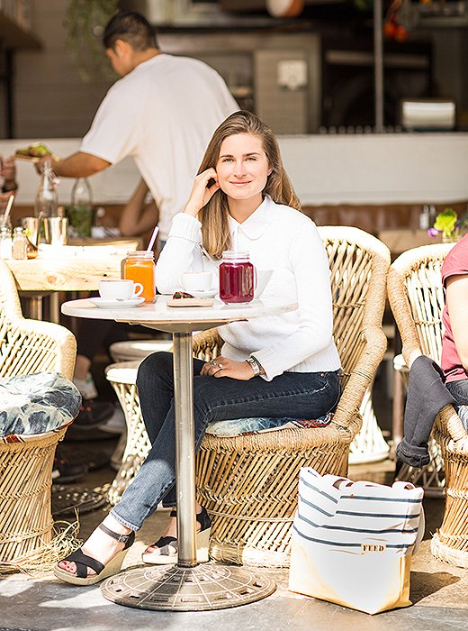 """""""It feels like an escape from the hustle and bustle of NYC when I go there,"""" says Lauren, who makes morning stopsat the coffee shop."""