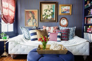 Photo by Nicole LaMotte & 14 Beautiful Decorating Ideas for Blue and White
