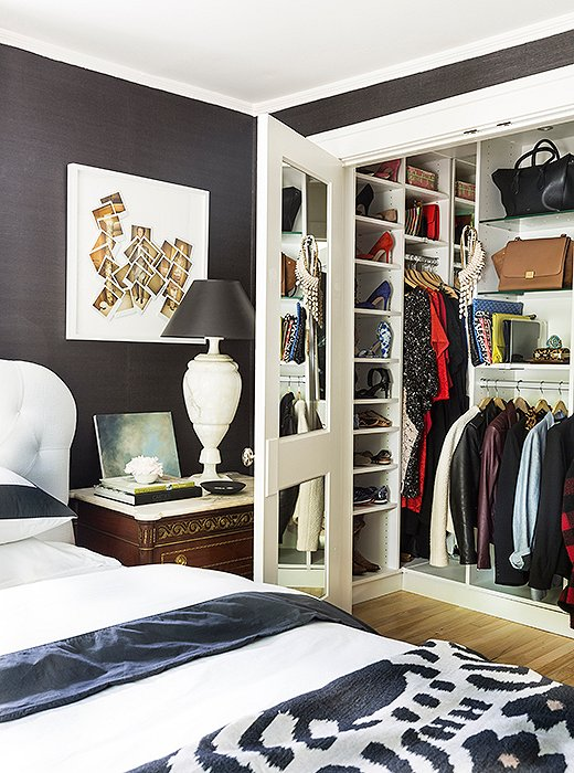"""I added a really big master closet by stealing the closet from a room next to it,"" she says. ""I had California Closets come and pimp it out for me."""