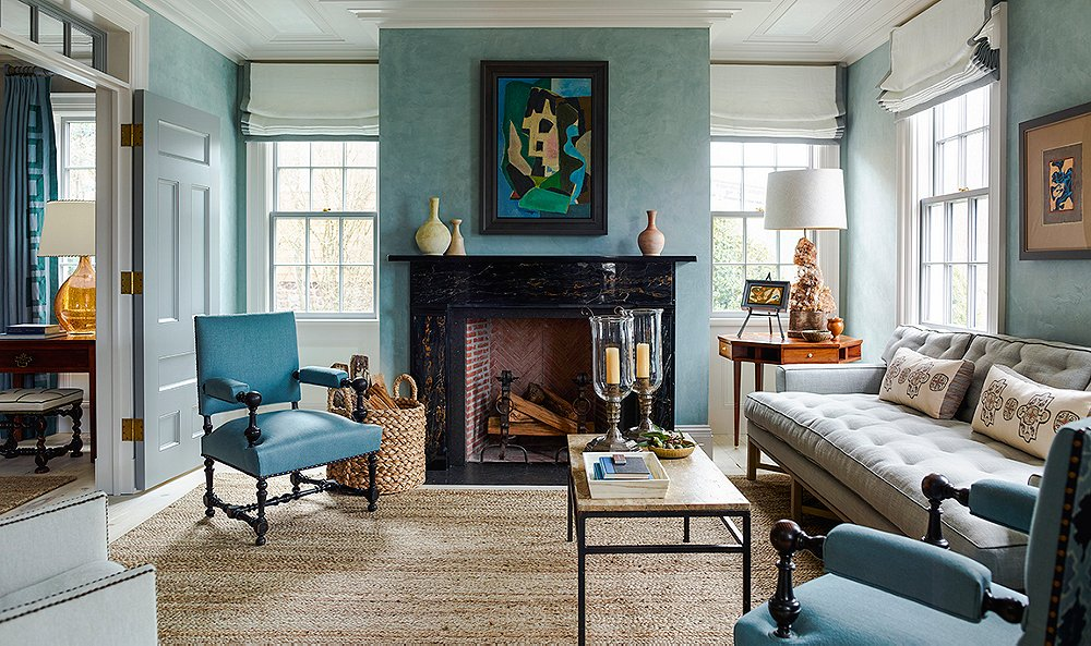 8 Top Interior Designers Share Their Favorite Blue Paint Colors House With Interior Designs on house with books, house with kitchen, house with windows, house with lighting, house with room, house with pets, house with bathroom, house with doors, house with computer, house with flowers, house with tiles,
