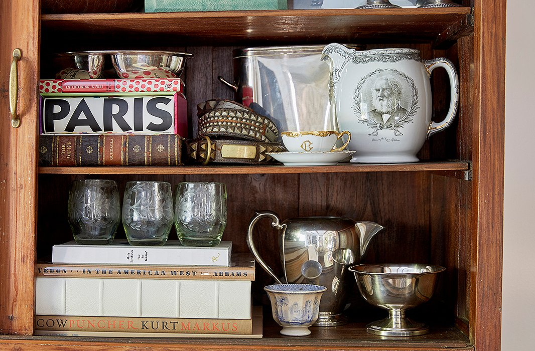 "The china cabinet ""was a great place to just pile all of my cherished pieces and still see what I have to play with,"" Jennifer says. ""I love all of my antique china so much, and I use it for all different occasions."""