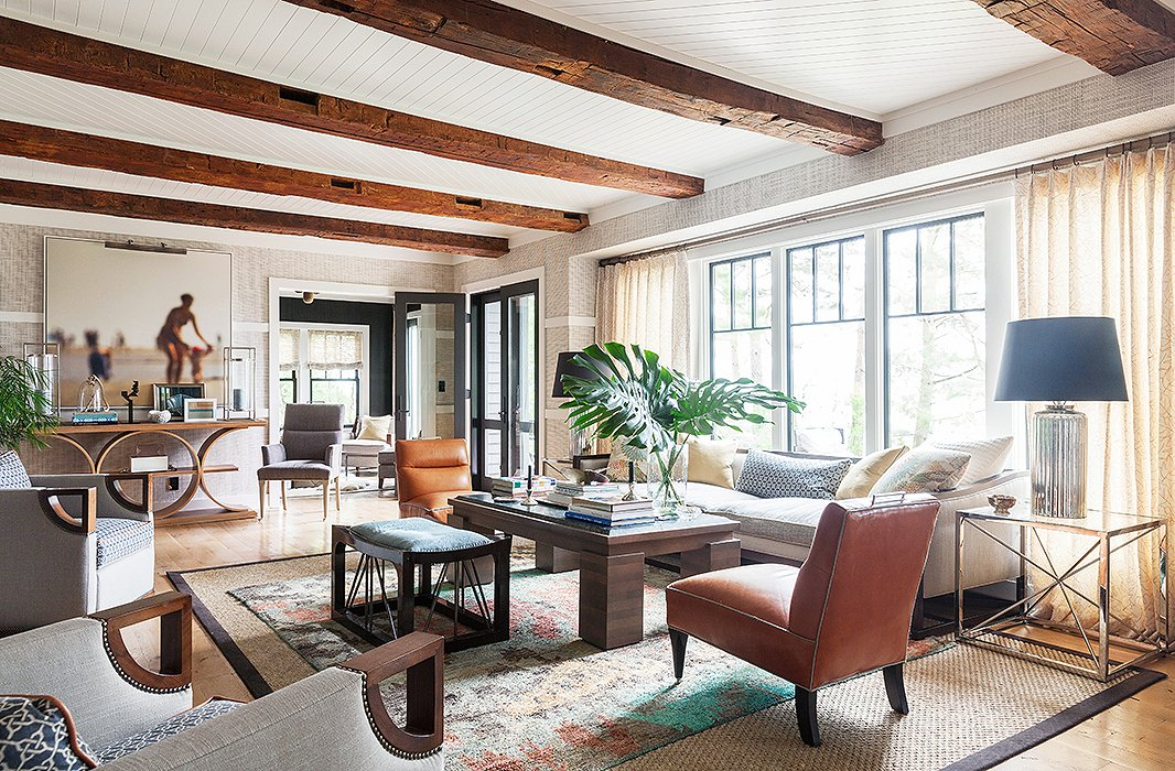 Lake Home Design Ideas: 7 Perfect Ways To Decorate With Natural-Fiber Rugs