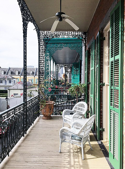 A spot that captures the deep-rooted glamour of New Orleans, the Soniat House is a hotel occupying three 18th-century cottages that overlooks the city's bustling French Quarter. Photo by Kelly Lack.