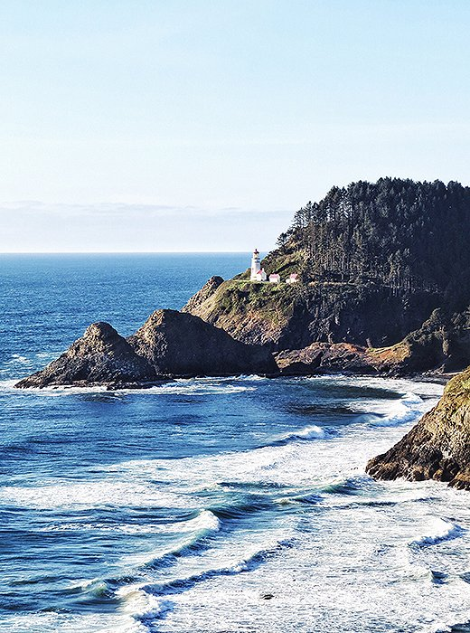 A perfect vantage point with a clear view of the Heceta Head Lighthouse. Photo by Kelly Lack.