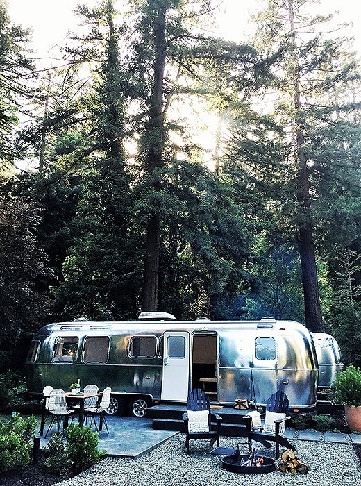 Airstreams designed by Lauren Geremia are the new must-experience places to stay. Photo by Kelly Lack.