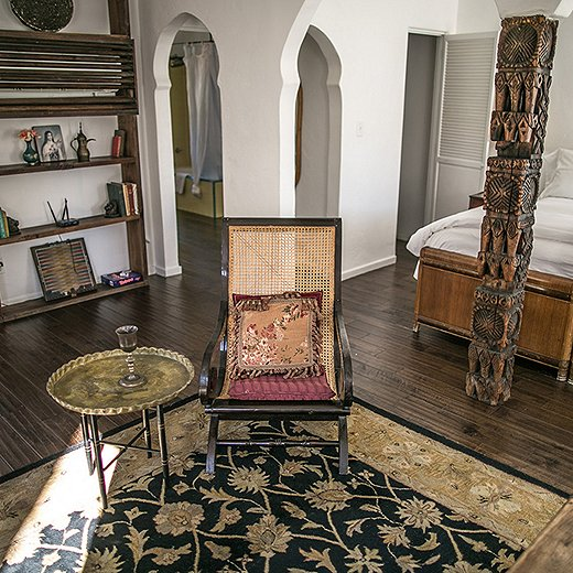 Romantic rooms conjure up the grand exotic beauty of Moroccan villas. Photo courtesy of Korakia Pensione.