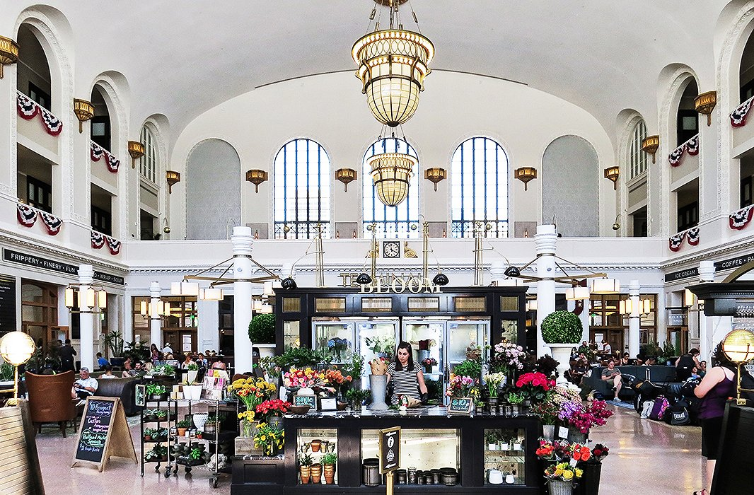 Step inside Denver's Union Station and make your way to the sweet flower shop in the high-ceilinged main hall amid cafés and stunning architecture. Photo by Kelly Lack.