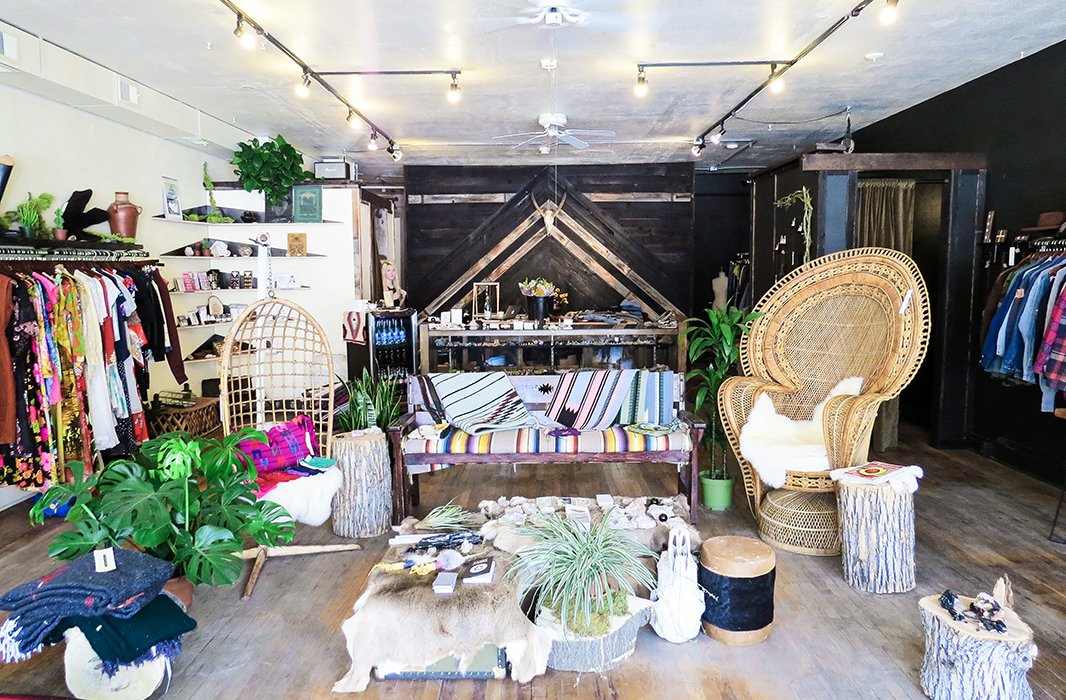 Get lost in Denver's must-visit boutique, Queen City General Store, and its wide-ranging stylish offerings that span cool fashions to fab home furnishings and accents. Photo by Kelly Lack.