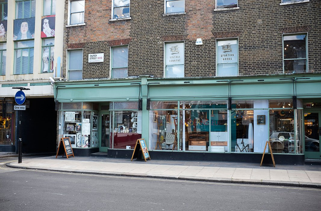 One of Timothy Whealon's favorite stops is Alfies Antique Market on Church Street in Lisson Grove, London.