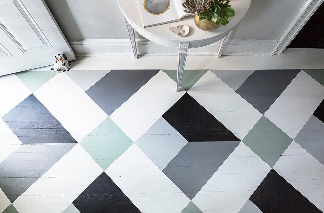 Painted Floor Designs a fantastic painted floor diy you can do in a weekend