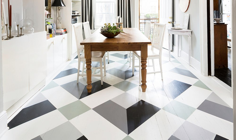 Painted Floor a fantastic painted floor diy you can do in a weekend