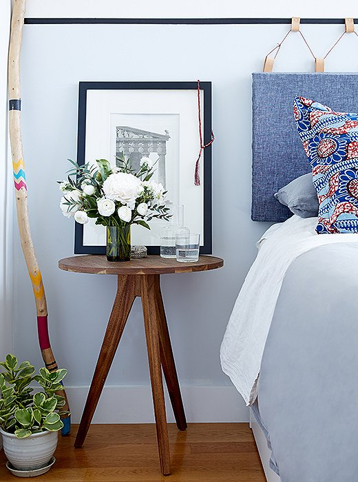 """I love the tapered legs on these nightstands,"" says Rosie. ""They mimic the lines of the dining table. It's subtle, but consistency helps in a small space."""