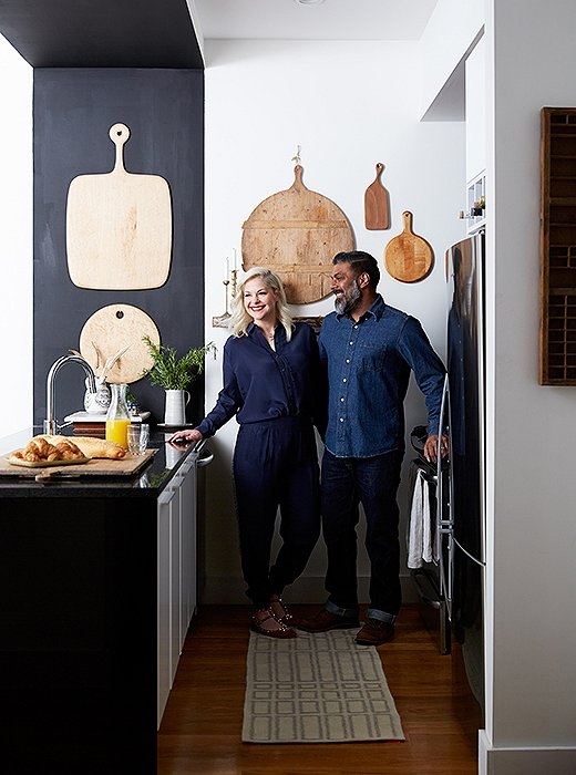 Rosie and Ambi love hosting a big crowd, so the compact kitchen sees its fair share of use and traffic—and is always at the ready for an impromptu wine-and-cheese night or an intimate dinner with family and friends.