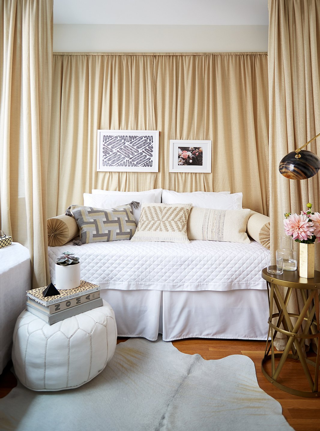 Makeover Bedroom A Glamorous And Renter Friendly Bedroom Makeover One Kings