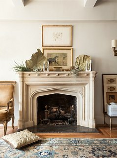the best decorating ideas for above the fireplace rh onekingslane com hanging art above fireplace modern art above fireplace