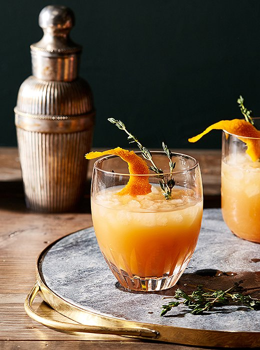 Fans of manhattans and old-fashioneds will love this seasonal spin on the bourbon sour.