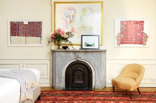A variety of moldings frames gives a