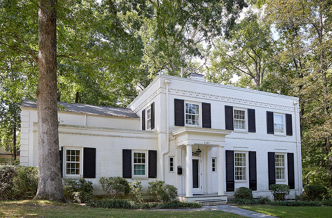 "John and Jason are only the third owners of the Regency Revival home, which was built in the 1930s. ""There's very much an English sensibility to the house,"" says Jason."