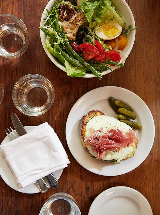 "Buvette's tuna Niçoise salad is on Christiane's short list. But for fall, she recommends ""a croque madame with a runny egg. Yum!"""