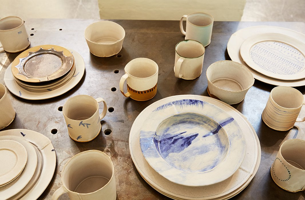 Handcrafted of local clay by a Philadelphia artisan, BDDW's ceramics have an organic, one-of-a-kind allure.