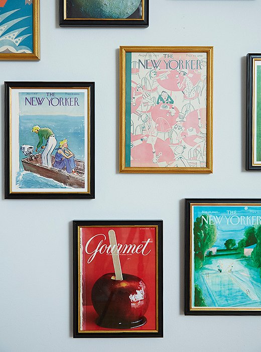 These Gourmet and New Yorker covers get new depth in Framebridge's Providence frame, with its black molding subtly lined in gold. Framebridge uses only acid-free materials for matting, and its acrylic is UV-protected to guard against sun damage.