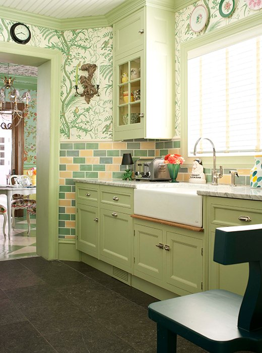 country green kitchen designers their favorite paint colors for green kitchens 2713